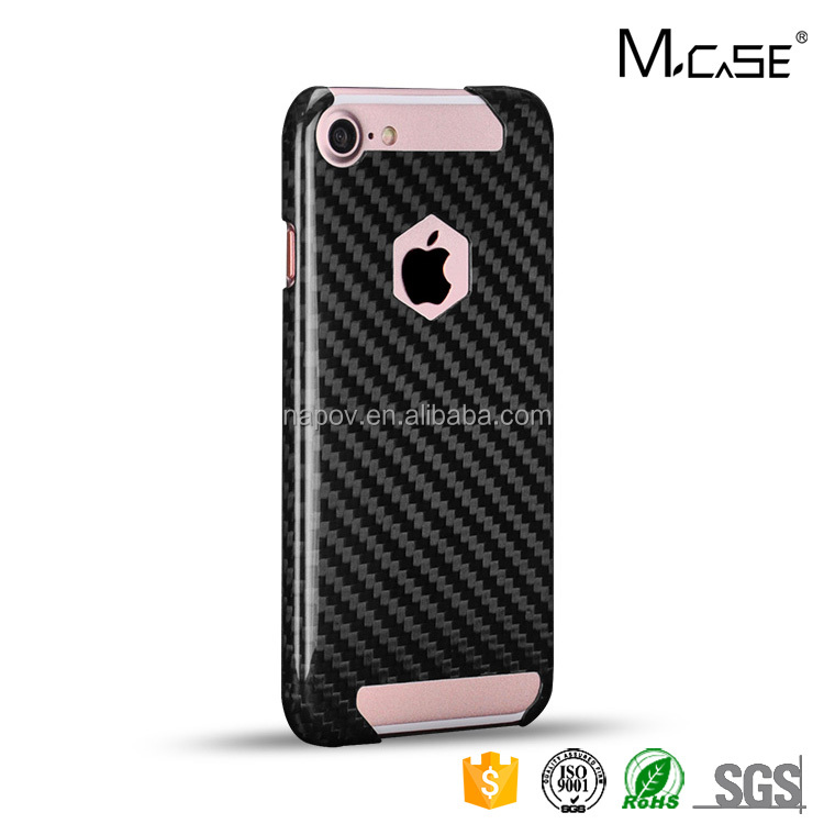Custom 100% Real Carbon Fiber Phone Case For iPhone 6 7 plus 8 Plus Mobile Phone Covers