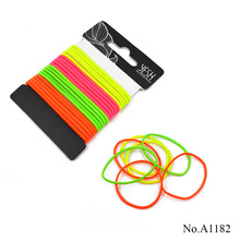 Wholesale fashion 2mm various types of rubber elastic hair bands 20pcs/card