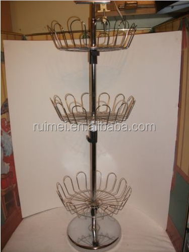 3 Tier 36 Pairs Chrome Revolving Shoe Tree Rack