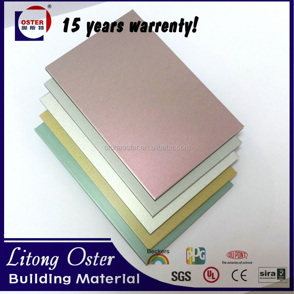 aluminum composite panel ferfored with PVDF OR PE coating