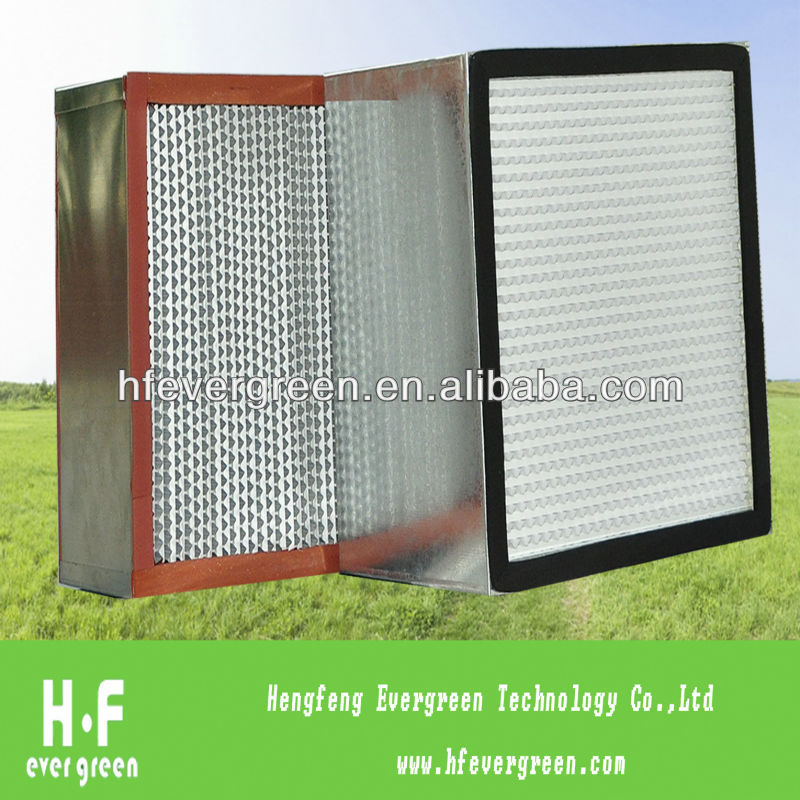 Deep Box Hvac Air Flow Pleat Filter With Separator