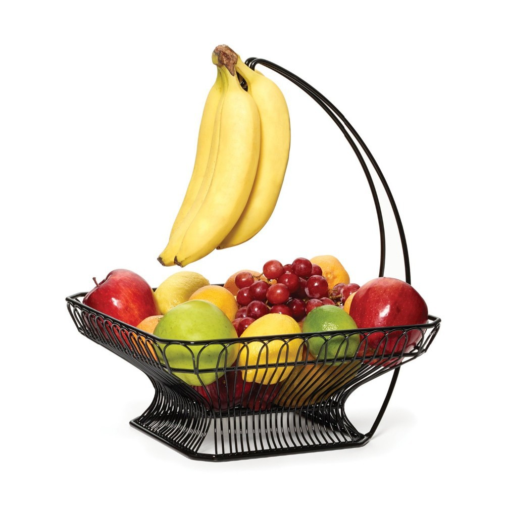 Store More Wire Fruit Tree Bowl With Banana Hanger Bronze