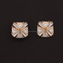 Personalized Fashionable Rough Cut Diamond Jewelry For Women Earrings