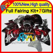 8Gifts For SUZUKI Hayabusa GSXR1300 ALL Gloss red 08 09 10 11 19XH45 GSX R1300 2008 2009 2010 2011 GSXR 1300 12 13 14 15 Fairing