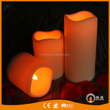 Set of 3 candles Yellow Light LED Plastic Flickering LED Light Candles Set