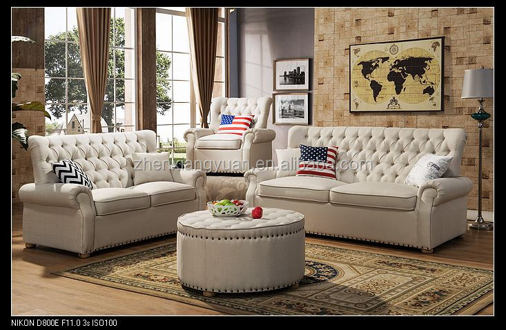 Hot sale 2017 living room furniture Victorian style sofa luxury sofa sets