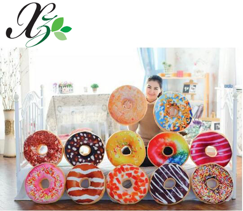 Factory Direct Sale Throw Pillows Copy Biscuit Donuts Pillow Smiley Emoticon Plush Emoji Pillow