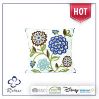 2016 new hand embroidery designs of cushion