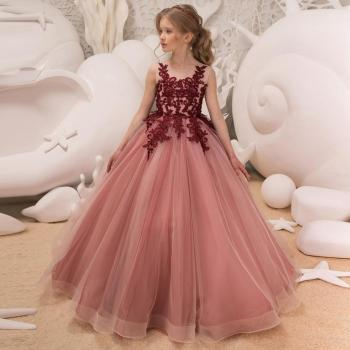 S34720W Girls ball gown latest flower girls dresses patterns fancy kids wedding dress