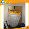 Cheap advertising inflatable model inflatable trash can
