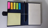 Promotion recycle notepad with ball pen, eco material notepad with pen