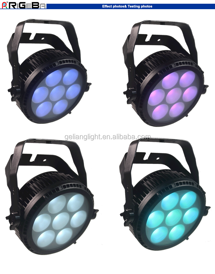 newest design waterproof IP65 outdoor light razor P7 high power stage light 7leds 25w RGBWA 5in1 COB led par64 light