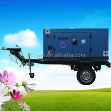 Fully Enclosed Trailer Mounted Genset Cheap Price Diesel Generator Sets