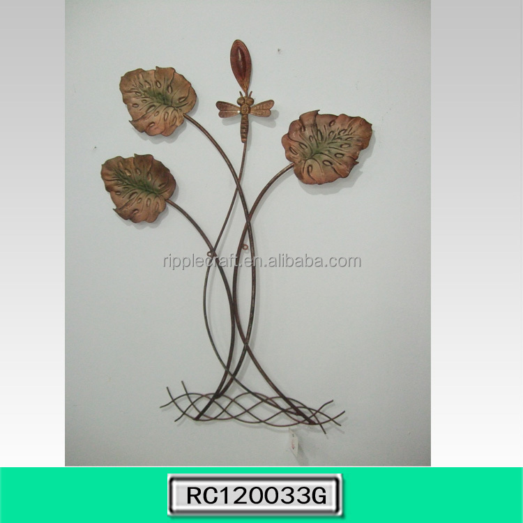 Creative Lotus Leaf Wrought Iron Wall Decor Home Decoration