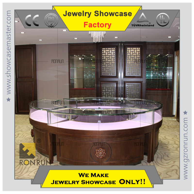 Fancy 2015 Gorgeous jewelry store Combined Type Display Retail Glass Counter