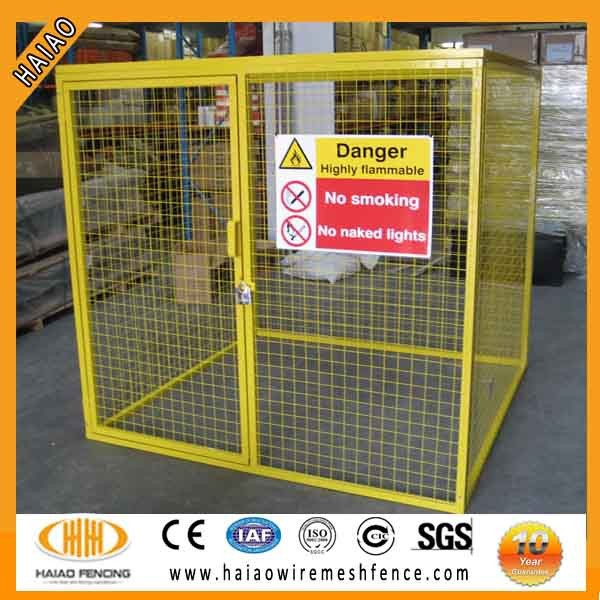 security gas cylinder storage wire mesh cage