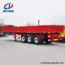 New style tir-axles side panel of livestock trailer load 50/60/80 tons for heavy duty