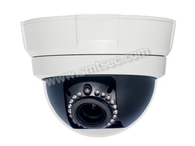 720P Low light Vandal- proof Dome IP CCTV Camera, Support two-way audio 2.8-12mm Zoom Lens 21 IR LEDs, IR 15m(SIP-F04R)