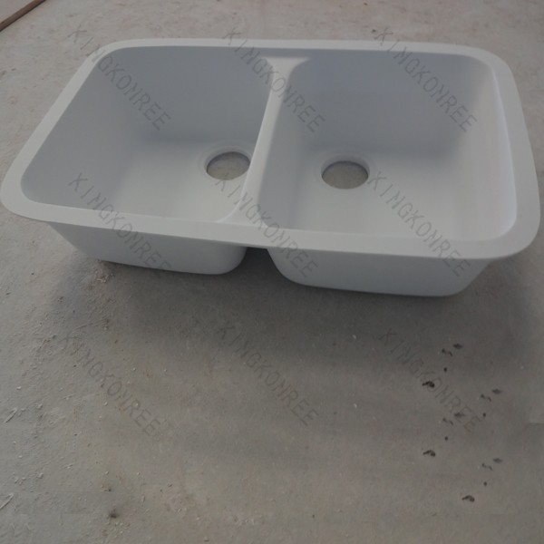 Acrylic solid surface undermount trough sink