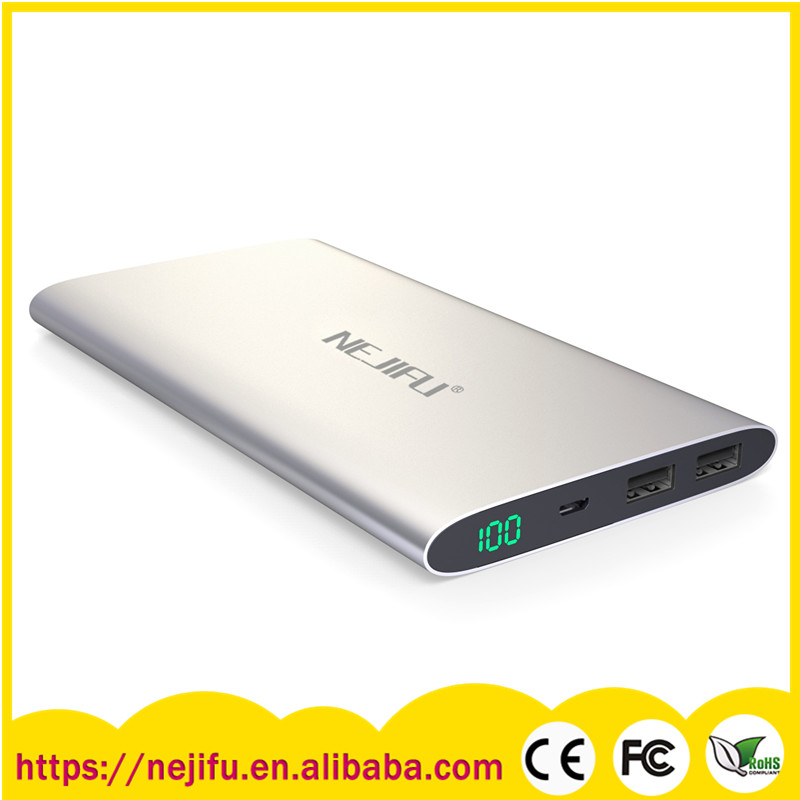 New design mobile manual for power bank 12000mah for tablet cell phone