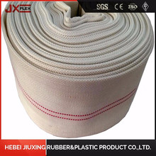 10bar 13bar PVC rubber lining canvas jacket water layflat hose fire fighting hose with storz coupling