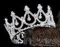 Fashion pageant crowns girl tiara crystal hair accessories pageant