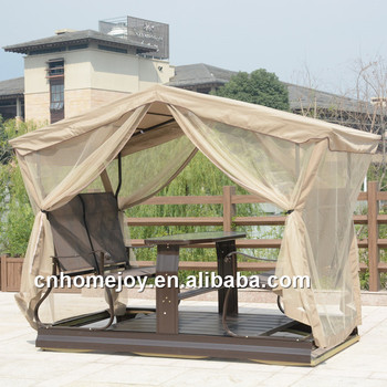 Leisure style 4-seat swing chair garden, waterproof hot-sale swing