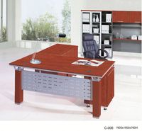 $135 L-shape stainless steel computer table office manager desk C-006