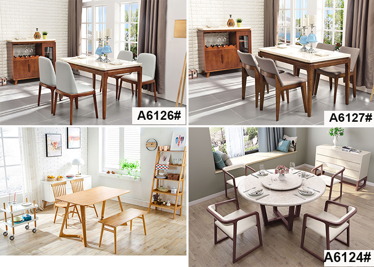 Hot sale living room furniture dining table set wooden home furniture with chair