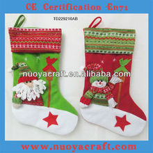 Novelty christmas craft with christmas sock