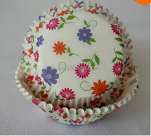 Hot Sale Circle Print Cupcake Liners Greaseproof Paper Baking Cups Muffin Cases for Bakery