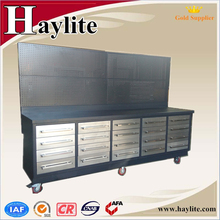 Heavy duty 10ft metal work bench for workshop