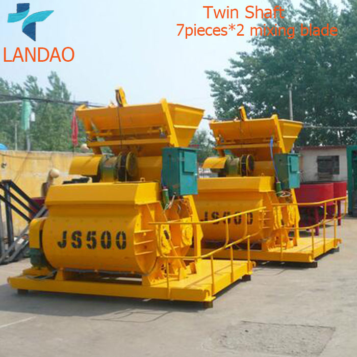 High Quality Electric JS 500 Twin Shaft Concrete Mixer
