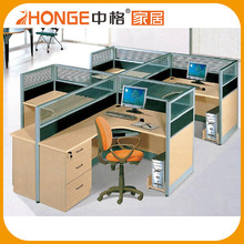 Cheap Modern Design Open Office Partition 4 People Workstation