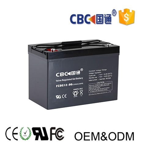UPS solar system rechargeable deep cycle GEL battery 12v90ah