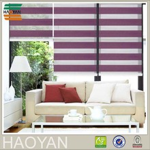 Haoyan day and night double layer pleated zebra fabric roller blinds