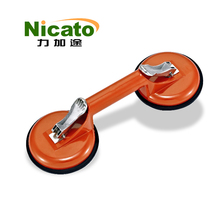 Dual suction cup tiles metal holder, glass vacuum lifter for marble