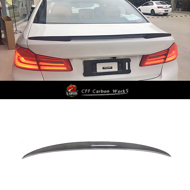 M Performance For BMwW 5 Series G30 Spoiler 530i 540i Carbon Fiber Rear Trunk Spoiler Wings P Style 2017 - UP