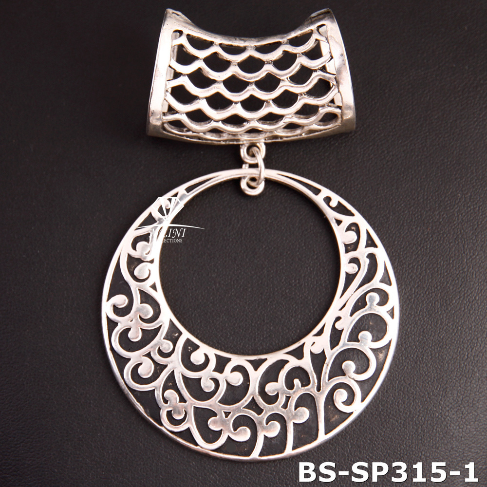 2015 New styles antique silver scarf pendant