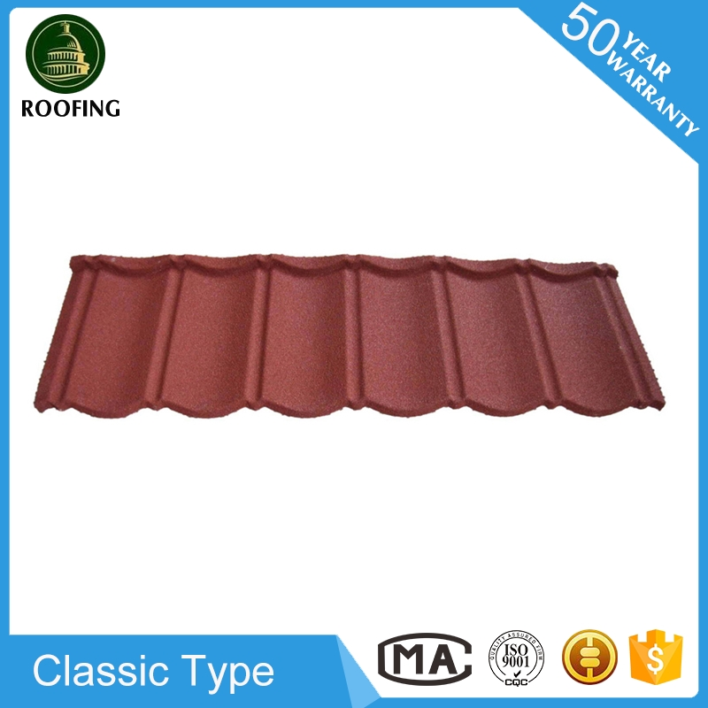 Wholesale Classic colorful stone coated steel roof tile,metal roof tile for wholesales