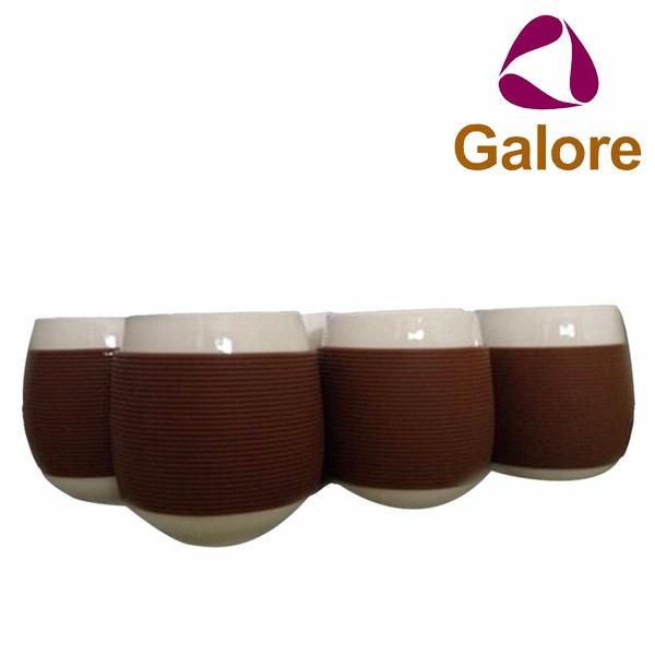 Cup Sleeve Black Coffee 100 ml Silicone Sleeve For Glass Cup