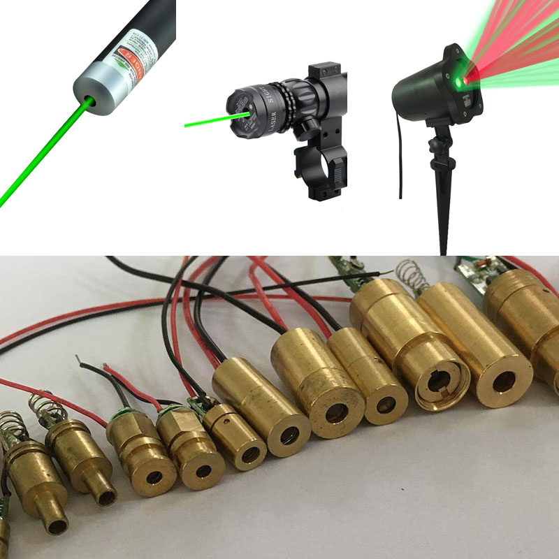 3v best quality D12mm green laser diode 5mw module 532nm line plastic lens for green Laser Pointer