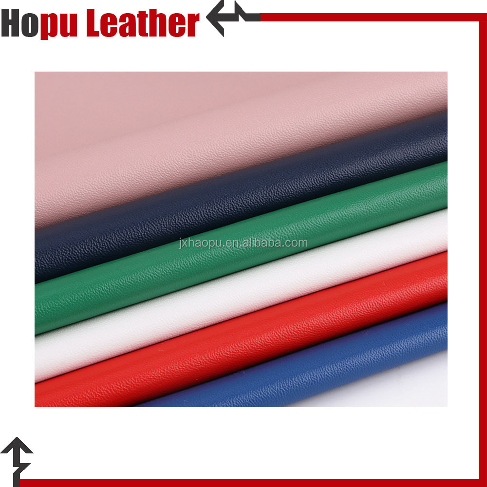 nonwoven pu imitation leather material for bags and shoes leather for man