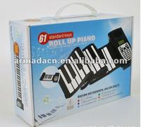 Musical instrument 88 keys roll up piano/foldable piano keyboard/flexible keyboard piano