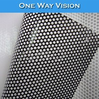 Outdoor Sign Self Adhesive 3M Perforated Glass One Way Vision Film