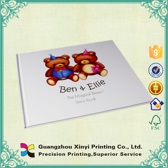 Embossing art paper children's reading book printing in Hardcover