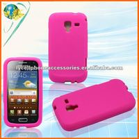 Hotpink Rubber Skin Case For Samsung i8160 Galaxy Ace 2 Soft Silicone Phone Cover