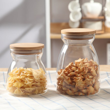 OEM / ODM High Borosilicate Glass Airtight Food Storage Container Canister Jar with Bamboo Lid & Silicone Sealing Ring