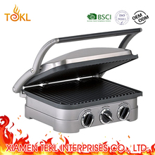 2018 5 in 1 Breakfast Maker Portable Mini Electric BBQ Grill Grill Toaster 6/8 slice Sandwich Maker Toaster with Aluminum Plates