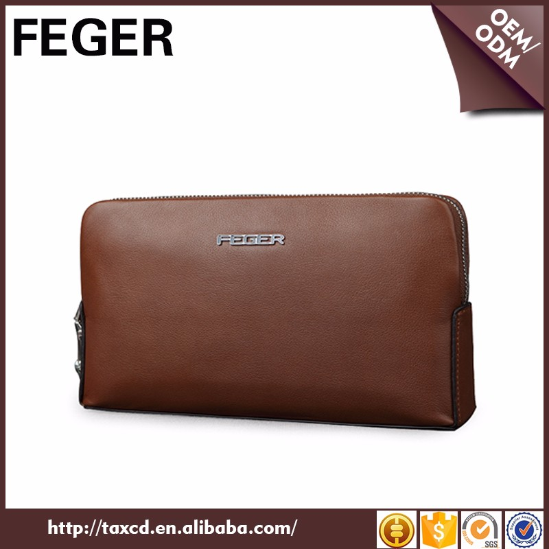 China supplier Top Sale Business Design Cow Top Genuine Leather Clutch Bag For Men
